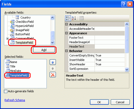 how to add links in gridview in asp.net