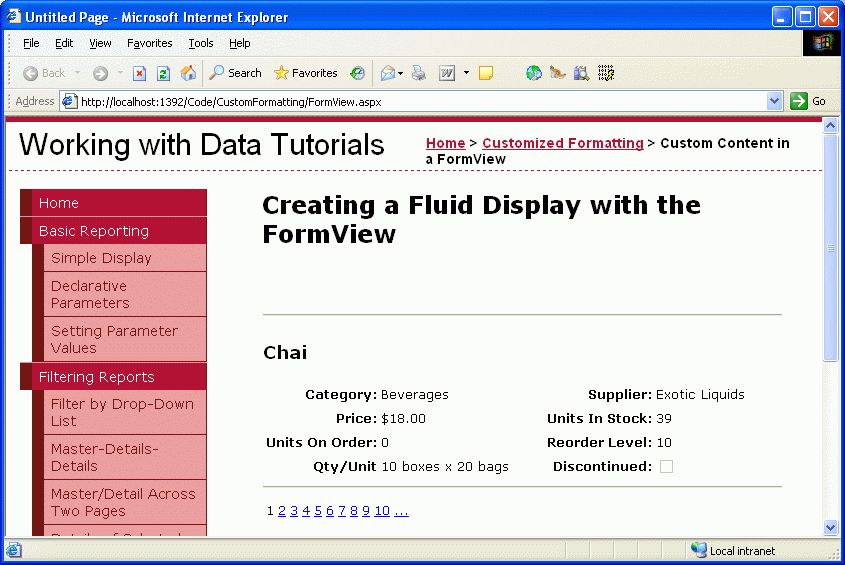 grid view templates in asp net - using the formview 39 s templates c the asp net site