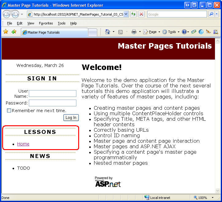 Specifying the title meta tags and other html headers in for Asp net master page templates free