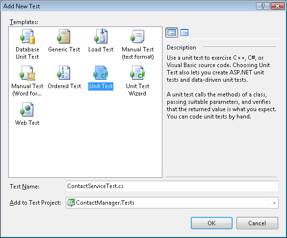What is manual unit testing in c#
