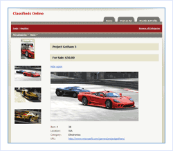 Classifieds Web Site