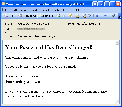 Recovering and changing passwords c the asp net site for Password change email template