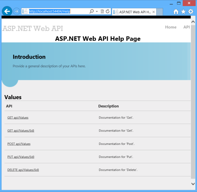 how to run web api project