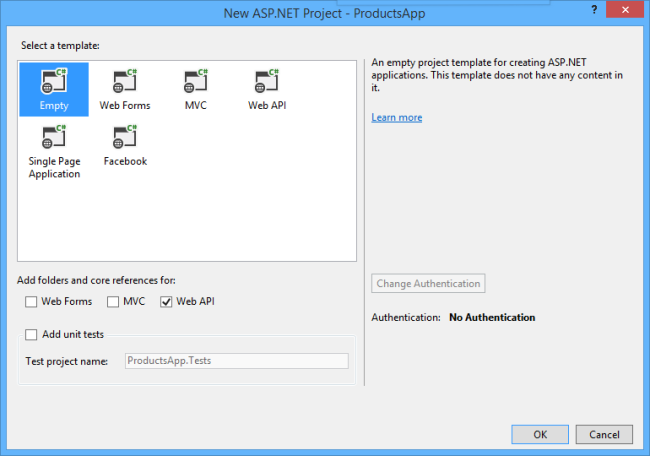 Getting Started With Asp Net Web Api 2 C The Asp Net Site